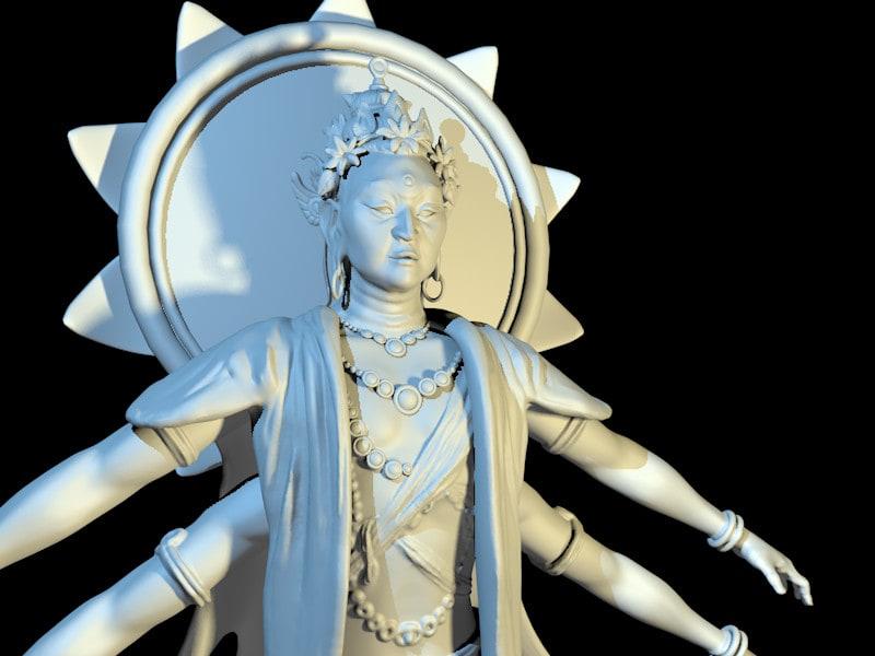 Silverback Interactive - Virtual Tibet - Avalokitesvara (Sculpt)