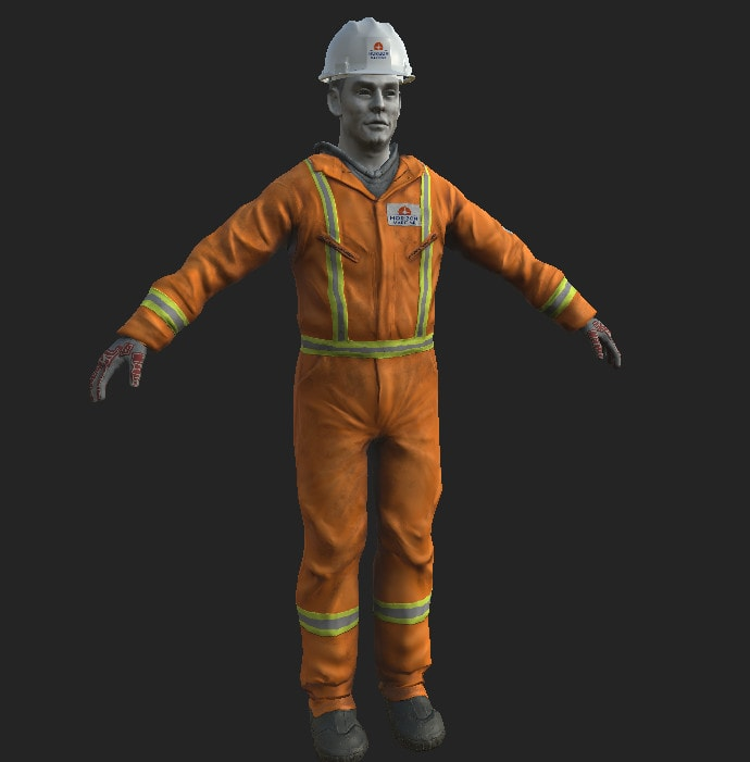 Silverback Interactive - Horizon Worker (Sculpt/texture)