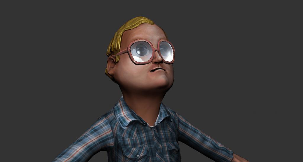 Silverback Interactive - Trailer Park Boys - Bubbles (Sculpt/Topo/UV/Texture)