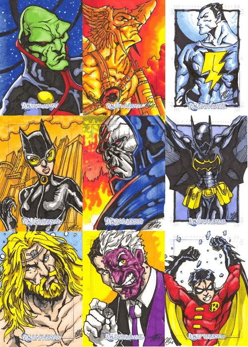 DC Comics - DC Universe Sketch Cards (Ink)