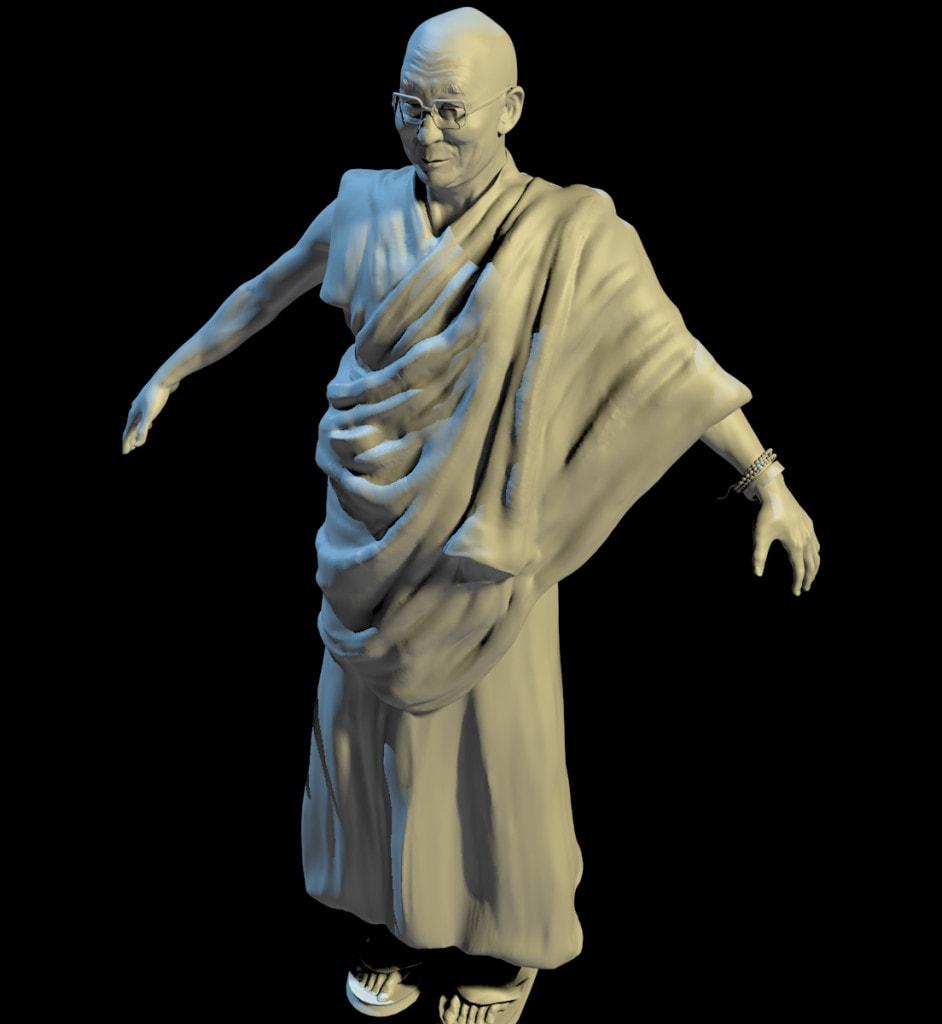 Silverback Interactive - Virtual Tibet - Dalai Lama (Sculpt)