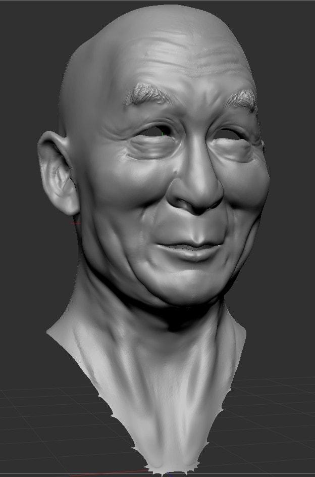 Silverback Interactive -Virtual Tibet - Dalai Lama (Sculpt)