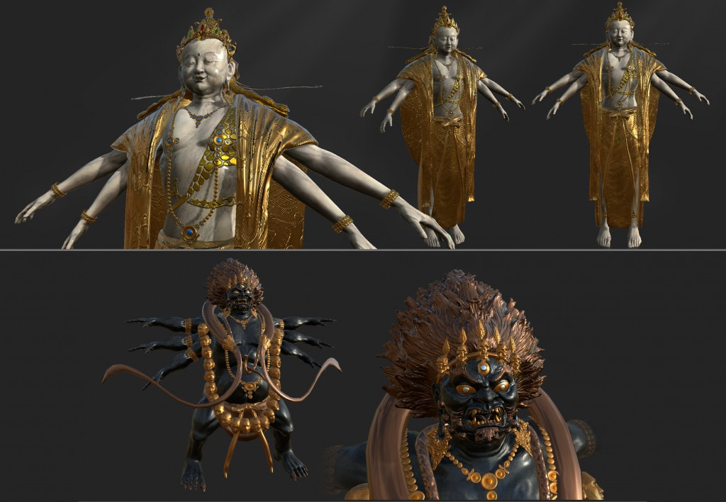 Silverback Interactive - Virtual Tibet - Deities (Sculpt/Topo/UV/Texture)