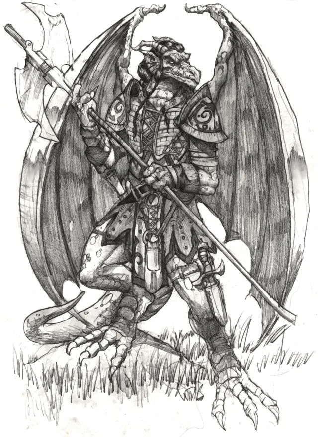 Mutable Realms - Wish - Dragonkin (Pencil)