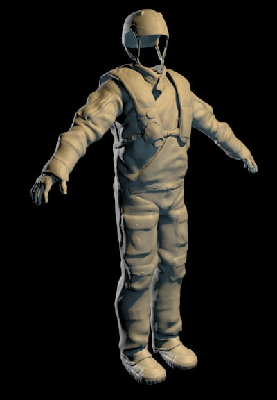 Silverback Interactive -Horizon - Survival Suit High Poly (Sculpt)