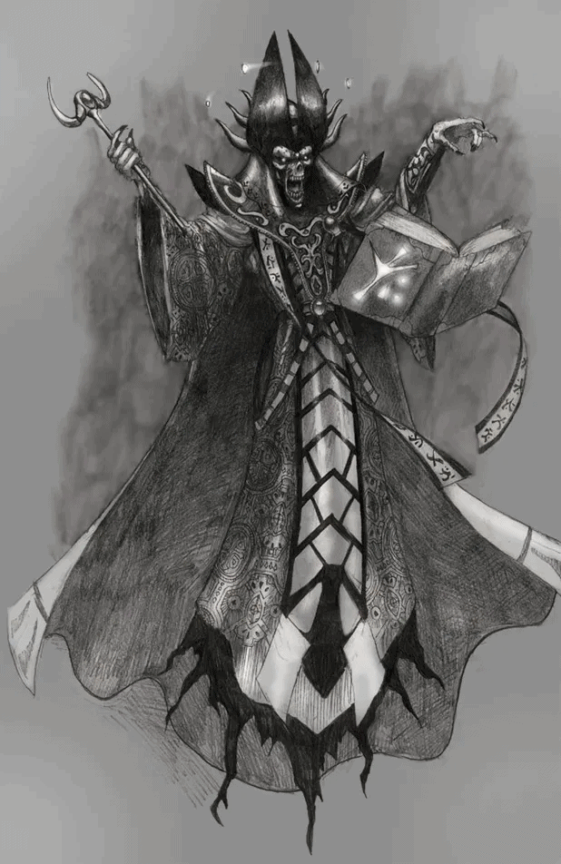 Mutable Realms - Wish - Lich (Pencil/Digital)
