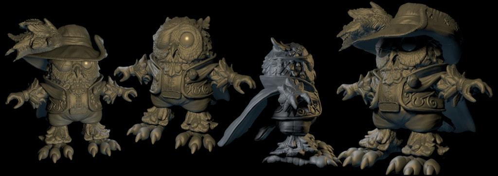 Silverback Interactive - Owl Bard (Sculpt)