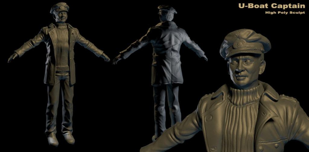 Silverback Interactive - U-Boat Captain  (Sculpt)